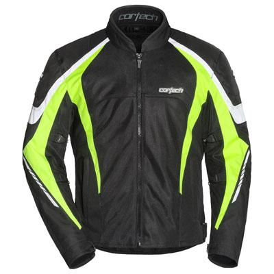 Cortech GX Sport Air 5.0 Jacket Large Black/Hi-Viz