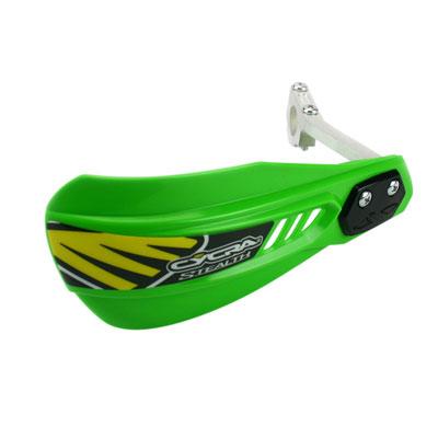 Cycra MX Alloy Stealth Handguard Racer Pak Kawasaki Green