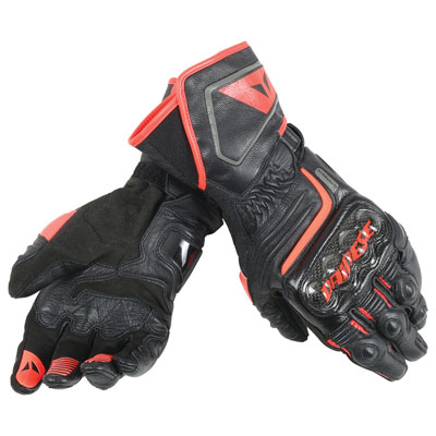 Dainese Carbon D1 Long Gloves XX-Large Black/Black/Red