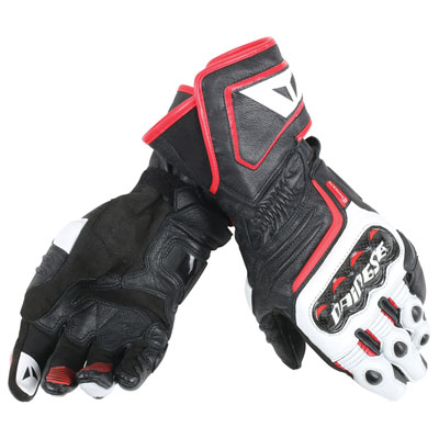 Dainese Carbon D1 Long Gloves Small Black/White/Red