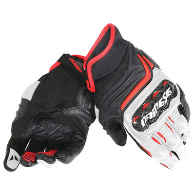 Dainese Carbon D1 Short Gloves XX-Large Black/White/Red