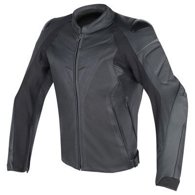 Dainese Fighter Perforated Leather Jacket Euro 52 Black