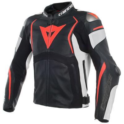 Dainese Mugello Leather Jacket Euro 48 Black/White/Red
