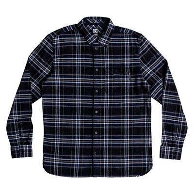 DC Marsha Long Sleeve Button Up Shirt Medium Black Iris