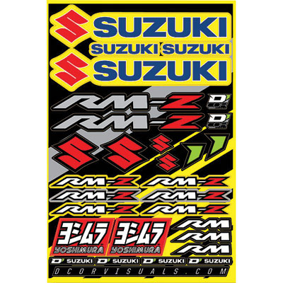 D'Cor Visuals Suzuki RMZ Decal Sheet