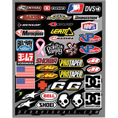 D'Cor Visuals Helmet Decal Sheet