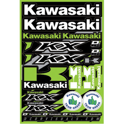 D'Cor Visuals Kawasaki KX Decal Sheet