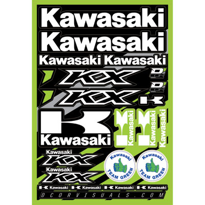 D'Cor Visuals Kawasaki Decal Sheet