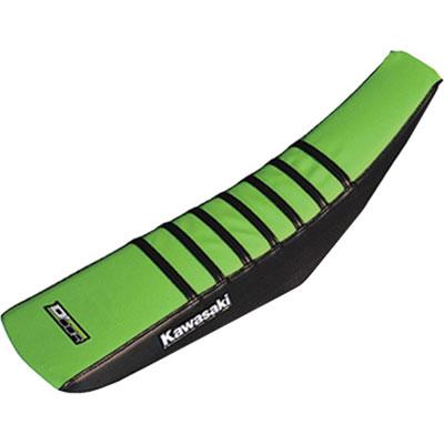 D'Cor Visuals Gripper Seat Cover  Kawasaki Ribbed Black/Green