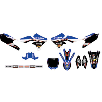 D'Cor Visuals Star Racing Yamaha Complete Graphics Kit 2016  Black Backgrounds