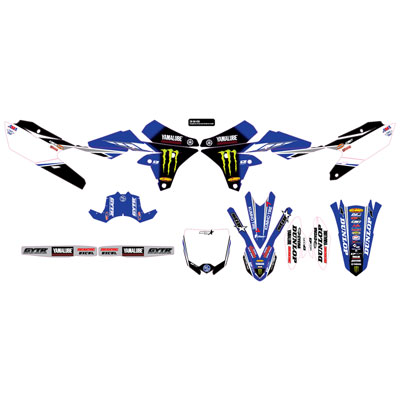 D'Cor Visuals Star Racing Yamaha Complete Graphics Kit 2018  White Backgrounds