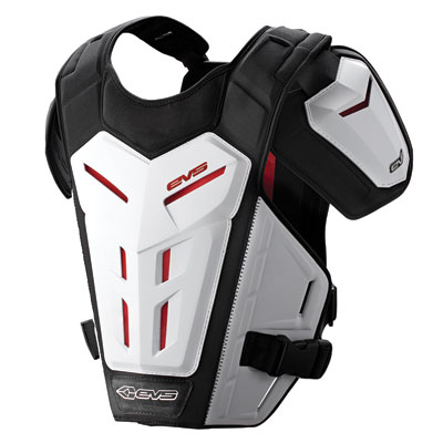 EVS Revolution 5 Under Jersey Roost Deflector Youth Small/Medium White