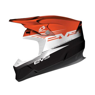 EVS T5 Works Helmet XX-Large Orange/White/Black