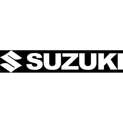 Factory Effex Die-Cut Sticker Suzuki 12  White