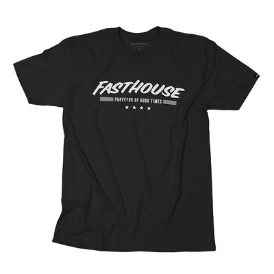 FastHouse Four Star T-Shirt Small Black