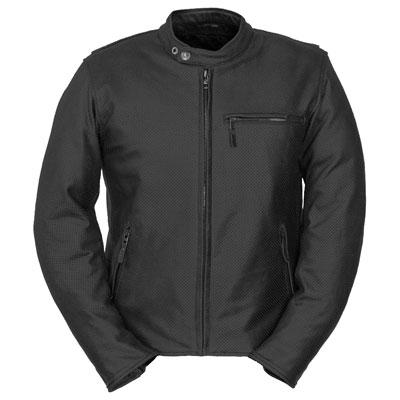 Fieldsheer Deuce Perforated Leather Jacket 44 Black