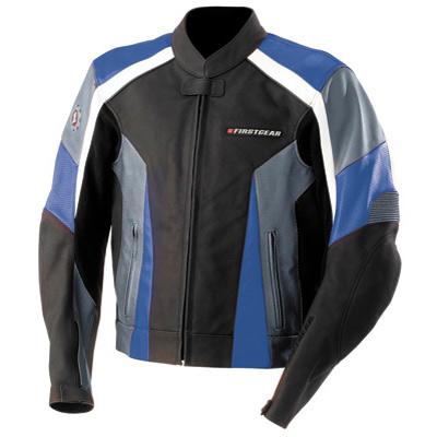 Hammer Leather Motorcycle Jacket Black/Blue