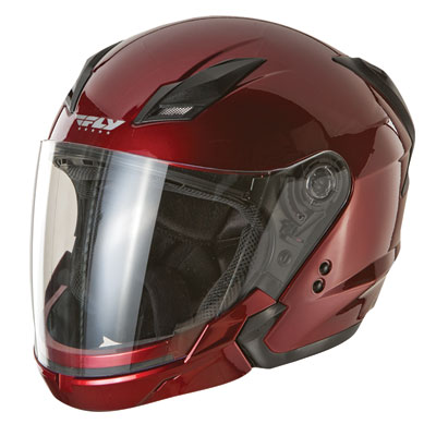 Fly Street Tourist Motorcycle Helmet XX-Large Candy Red
