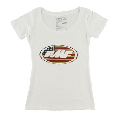 FMF Women's America The Great T-Shirt Large White