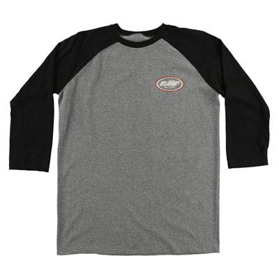 FMF Strokes Raglan 3/4 Sleeve T-Shirt Small Charcoal Heather/Black