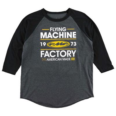 FMF Recoil 3/4 Sleeve Raglan T-Shirt Large Charcoal Heather/Black