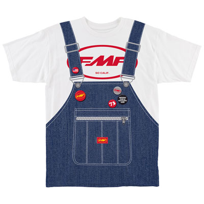 FMF Factory Mac Overalls T-Shirt Small White