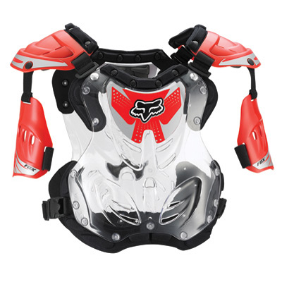 Fox Racing R3 Roost Deflector 85-150 lbs., 5'2 -5'11  Red