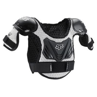 Fox Racing Pee Wee Titan Roost Deflector Small/Medium Black/Silver