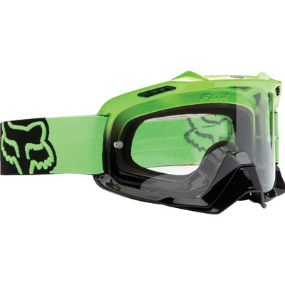 Fox Racing Air Space Goggle 2017  Day Glow Green Frame/Clear Lens