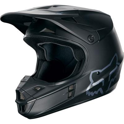 Fox Racing V1 Matte Black Helmet X-Small Matte Black