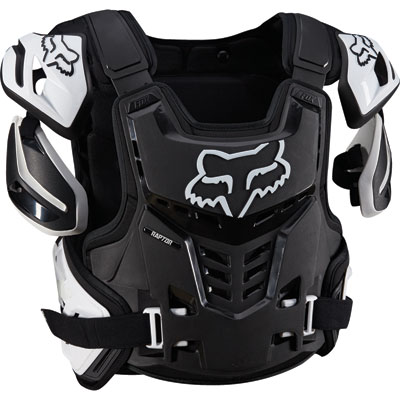 Fox Racing Raptor CE Roost Deflector Large/X-Large Black/White