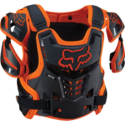 Fox Racing Raptor CE Roost Deflector Large/X-Large Orange