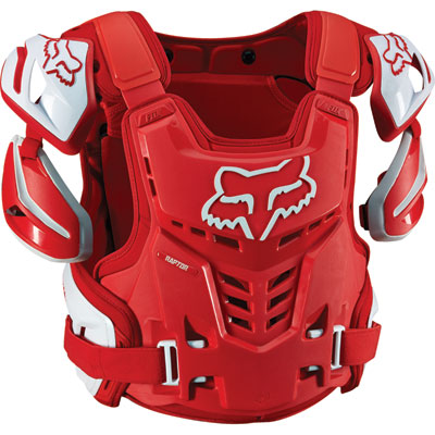 Fox Racing Raptor CE Roost Deflector 2017 Small/Medium Red