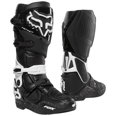 Fox Racing Instinct Boots Size 11 Black/White