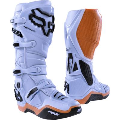 Fox Racing Instinct Boots 2018 Size 13 Light Grey