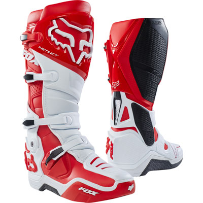 Fox Racing Instinct Boots 2018 Size 14 White/Red