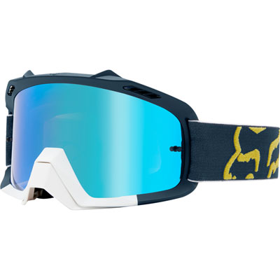 Fox Racing Youth Air Space Goggle  Preme Navy/Red Frame/Blue Spark Lens