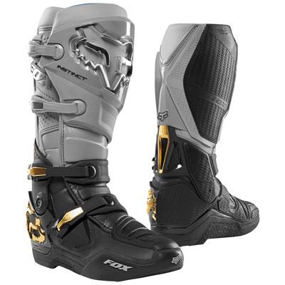Fox Racing Instinct Boots Size 12 Grey/Black
