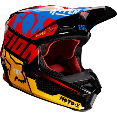 Fox Racing V1 Czar Helmet XX-Large Black/Yellow