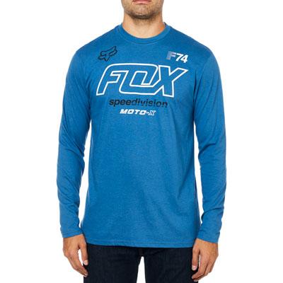 Fox Racing Assessing Long Sleeve T-Shirt Large Dusty Blue