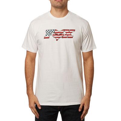 Fox Racing Flag Head X T-Shirt Medium Optic White