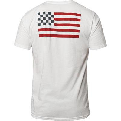Fox Racing Patriot Premium T-Shirt Medium Optic White