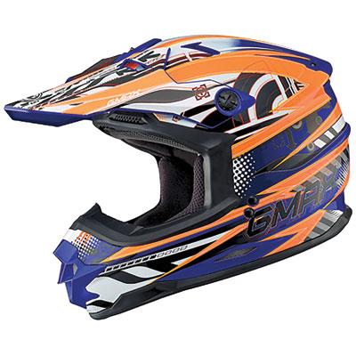 GMax GM76X Xenotron Helmet X-Large Blue/Hi-Viz Orange