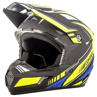 GMax MX46 Uncle Helmet Medium Black/Hi-Vis/Blue
