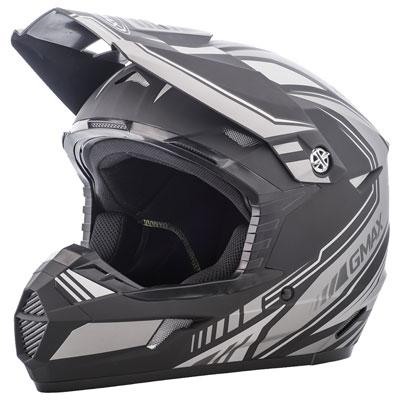 GMax MX46 Uncle Helmet X-Large Flat Black/Black/Silver