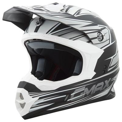 GMax MX86 Raz Helmet Small Flat Black/Silver/White
