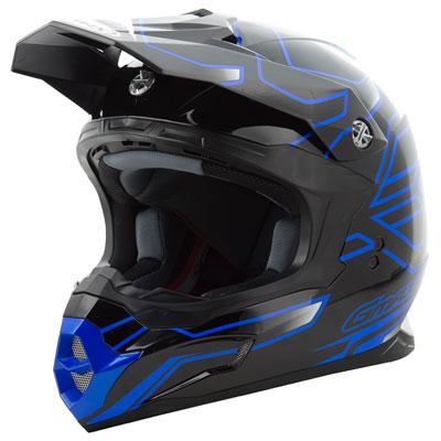 GMax MX86 Step Helmet Large Black/Blue
