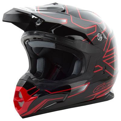 GMax MX86 Step Helmet X-Large Black/Red