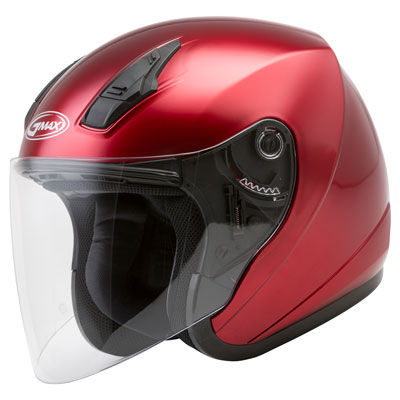 GMax OF17 Open Face Helmet X-Small Candy Red