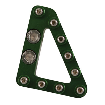 Hammerhead Brake Pedal Replacement Large Aluminum Tip  Green